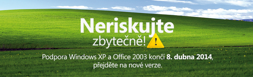 Konec podpory Windows XP a Office 2003